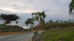 La bajada del cementerio de Pacasmayo